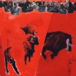 De souffle et de rumeur  Technique mixte ,acrylique sur toile 100 x 100 2000 Vendu