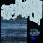Dans les plis des flammes    Acrylique sur bois   75 x 60 2009