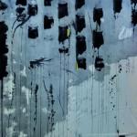 Les plis de l'or    Acrylique, feuille d'or sur toile pliée   130 x 97  2009