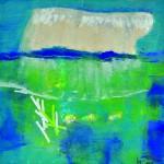 L'arche de Noé Acrylique, collage, grattage ,sur carton 30 x 30 2012 Vendu