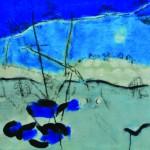 Danse avec les nuages Acrylique, collage, fusain sur toile  60 x 60  2012  Vendu