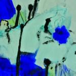 Deux ou trois signes entrevus    Technique mixte, acrylique, collage, sur papier 32  x 24 2012 -