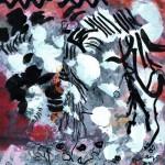 Le chant des aubes blanches    Technique mixte, acrylique sur  papier 30 x 30 2010