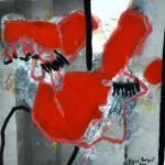 Pour l'insolite    Acrylique sur  papier 40 x 40 2010 Vendu