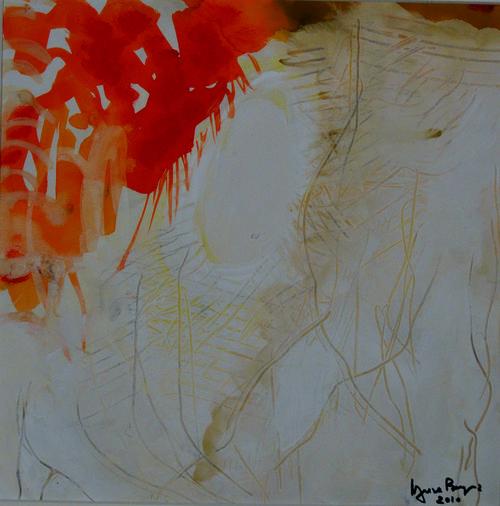 Traces d'orage    Acrylique sur  papier 30 x30 2010  Vendu