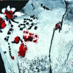 Pour guetter l'aurore    Acrylique sur drap froissé 81  x  65  2014