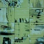 Vents pliés    Acrylique sur  toile- ensemble de 12  toiles  réunies   160 x 120  2007 Vendu