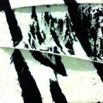 Croisements appliqués Acrylique sur toile plissée 20 x 20 - 2018