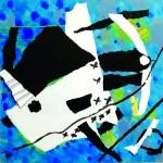 Embarquons-nous Collage, encre sur papier - 52 x 52 - 2020