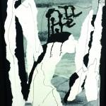 Faire reculer l'horizon de l'oubli - Collage, encre sur papier - 40 x 47-2018
