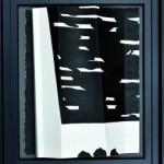 Fenêtre sur cour   encre de chine sur papier plissé 25 x 25 - 2014