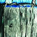 Hissez les voiles, mer agitée  Acrylique sur toile plissée  - 82 x 54 - 2018 -