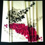 Ils passent et ils nous pensent   Acrylique, encre de chine sur papier plissé -60 x 60 -2018 -