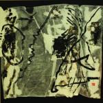 La part d'ombre   Encre de chine sur papier plissé - 60 x 60 - 2018