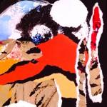 La mémoire vive - Collage encre sur papier - 27 x 27 2020 Vendu