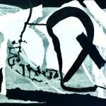 La nuit en étincelles blanches - Collage, encre sur papier - 42 x 52 - 2019 - Collection de l'artiste