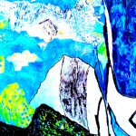 Les bleus de l'Atiplano argentin Acrylique sur toile plissée - 162 x 139 - 2020