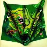 Papillons du soir   Acrylique sur papier plissé - 35 x 35 - 2016 -Vendu
