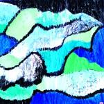 Par monts et par VauxAcrylique sur toile plissée- 60 x 60 - 2019