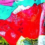 Par les vents, bousculé Acrylique sur toile plissée - 195 x 130 - 2019 -