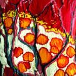 Traversée d'une aube Acrylique sur toile plissée- 73 x 60 - 2019