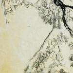 Eternel recommencement- Encre, fusain, papier soie ,48 x 34 - 2021