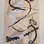 Le chant de mes pensées- Collage- Encre sur papier chiffon 67 x 43- Avril 2020