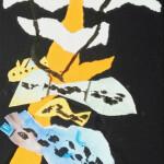 Les poissons pilotes de la colline- Collage- Encre 30 x 21 - Mai 2020