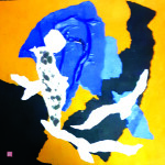 Migrations - 50x50 - Collage, pliage, encre - 2021