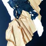 Tentative d'évasion - 50x70 - Collage, pliage, encre - 2021