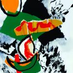 Les manques toujours enfouis-Collage-Pliage-Encre sur carton plume-40 x 50