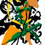 Assailli par l'émotion - Collage-Pliage- Encre- sur carton plume-40x50- CONFINEMENT-2
