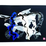 Question d'avenir - Collage, Pliage, Encre sur carton - 40 x 50 - 2021