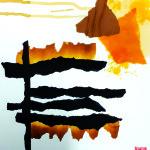 Retour vers la lumière - Collage - 30 x 40 - 2020  VENDU